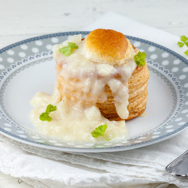 White asparagus vol au vents
