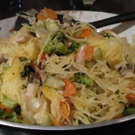 Paleo Spaghetti Squash Stir Fry