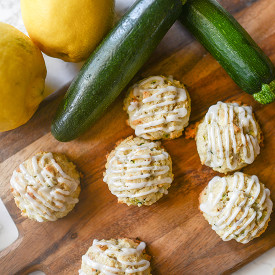 Zucchini Cookies with Lemon Glaze