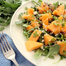 Arugula, Cantaloupe and Goat Cheese