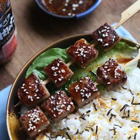 Saikoro Steak on Furikake Rice