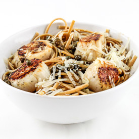 Seared Scallop Linguine with Capers