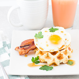Sharp Cheddar Cornmeal Waffles