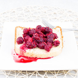 Raspberries on Coconut Shortcake