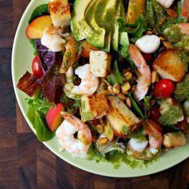 Summer Peach and Shrimp Salad