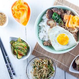 Bibimbap – Korean rice and vegetabl