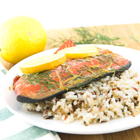 Lemon Dill Plank Salmon