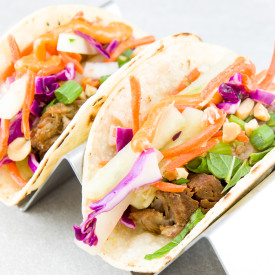 Pork Shoulder Tacos with Asian Slaw