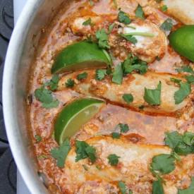 Salsa Chicken Dinner with Cilantro