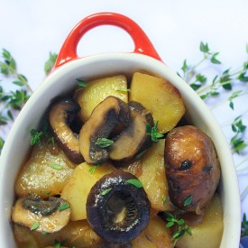 Vegan Mushroom and Potato Bake