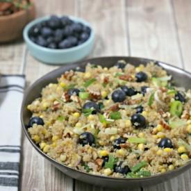 Quinoa Pilaf w/ Corn & Blueberries