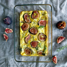 Rustic Frittata with Fig & Avocado