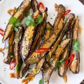 Miso glazed aubergine or nasu denga