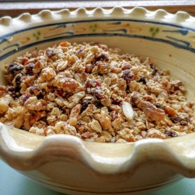 Baked Granola With Nuts and Berries