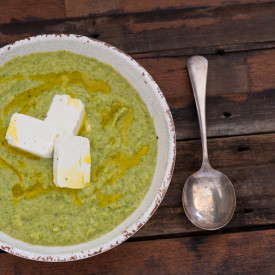 Broccoli & Goats Cheese Soup