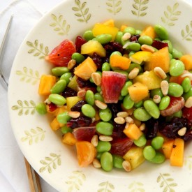 Edamame Salad with Persimmon