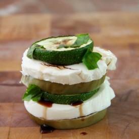 Eggplant Zucchini Stacked Salad