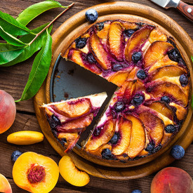 Roasted Peach and Goat Cheese Chees