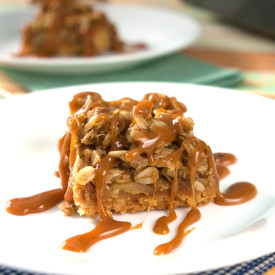 Salted Caramel Apple Crumble Bars