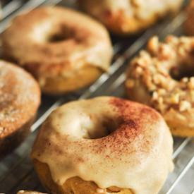 Coffee Glaze pumpkin Doughnuts