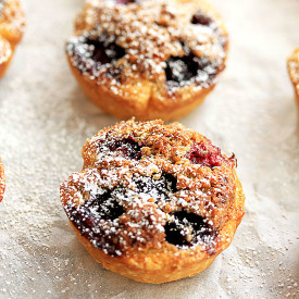 Mini Blueberry Hazelnut Pies