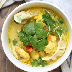 Curry Chicken and Dumpling Soup