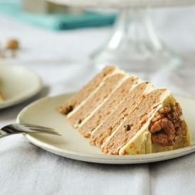 Masala Chai Walnut Cake