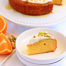 Orange Semolina Cake with Yoghurt