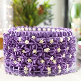 Ube Cake (Filipino Purple Yam Cake)
