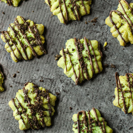 Mint Chocolate Shortbread Snowflake