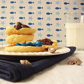 Chocolate Chip Cookie Boats