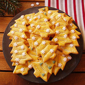 Christmas Tree Cutout Cookies