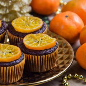 Chocolate Tangerine Muffins