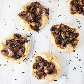 Mushroom and Gruyere Tartlets