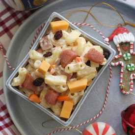 Ham and Queso Macaroni Salad