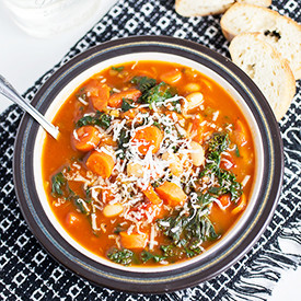 Cannellini, Carrot, and Kale Soup