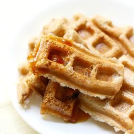 Easy Freezable Applesauce Waffles