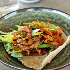 Honey Pepper Pork Wraps