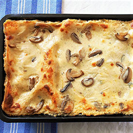 Mushroom and Cheese Lasagna