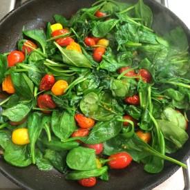 Spinach and Cherry Tomato Saute