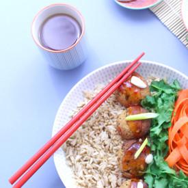 Bangin' Baked Thai Tofu Bombs