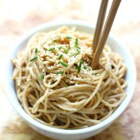 Cold Sesame Peanut Noodles (GF/V)