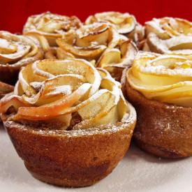 Vegan Baked Apple Roses For Valentine