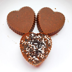 Vegan Crunchy Chocolate Hearts
