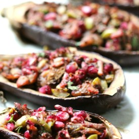 Middle Eastern Twice-Baked Eggplant