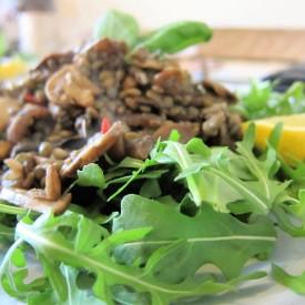 Puy Lentil and Mushroom Salad