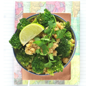 Easy Broccoli Salad with Chickpeas