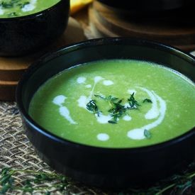 Chilled Green Pea and Onion Soup
