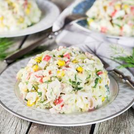 Russian-Style Imitation Crab Salad