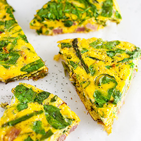 Ham, Cheese, and Asparagus Frittata